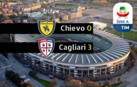 CALCIO, Il Cagliari sfata il tabù Chievo: bastano 45′ al Bentegodi (0-3)