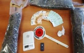 SARDARA, Sorpresa a trasportare oltre un chilo di marijuana: arrestata 35enne cagliaritana