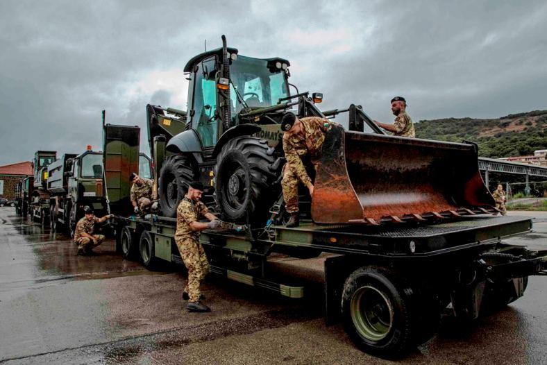 MALTEMPO, Esercito interviene ad Olbia col Reggimento genio guastatori e la Brigata Sassari