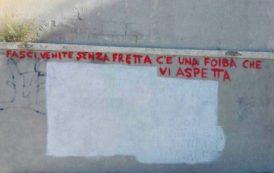 CAGLIARI, Scritte inneggianti alle Foibe firmate dal Coordinamento antifascista cagliaritano