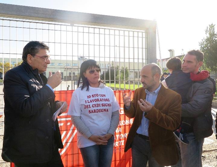 """CODRONGIANOS, Ganau incontra i lavoratori Cedi: """"L'Assemblea sarda è pronta a fare la sua parte"""""""