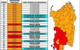 AMBIENTE, Protezione civile prevede pericolo incendi nel Campidano e nella zona sud-occidentale