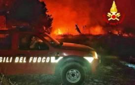 SARDEGNA, Due incendi in campagna a Sestu e Monserrrato