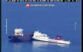 AMBIENTE, Prosegue monitoraggio macchia di idrocarburi dopo collisione al largo della Corsica