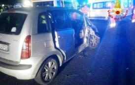 SARDEGNA, Incidente al bivio San Sperate-Decimomannu: tre persone in ospedale