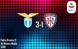CALCIO, Il Cagliari ha perso il filo: la Lazio vola (3-1)