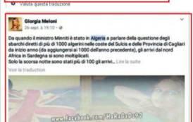 """IMMIGRAZIONE, Minacce a Giorgia Meloni nella pagina degli immigrati algerini: """"Una pallottola in testa"""""""