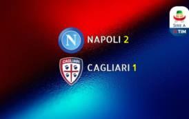 CALCIO, Rigore controverso, sconfitta tra le polemiche: Napoli-Cagliari 2-1