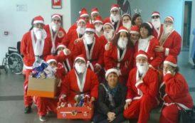 OLBIA, Tanti Babbo Natale hanno consegnato doni ai bambini ricoverati in Pediatria del Giovanni Paolo II