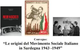 CAGLIARI, Venerdì 27 convegno sulle origini del Movimento Sociale Italiano in Sardegna