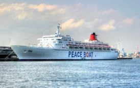 CAGLIARI, Arriva in porto la nave per la pace con i sopravvissuti del disastro nucleare