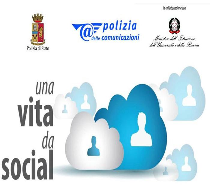 """CAGLIARI, """"Like-Storie di vita online"""", nell'ambito di Una vita da social, progetto teatrale itinerante della Polizia sul cyberbullismo"""