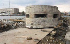 CAGLIARI, Recuperato e spostato al Porto il 'fortino' della Seconda Guerra Mondiale