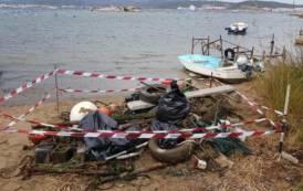 OLBIA, Guardia Costiera recupera a Sa Marinedda oltre 10 metri cubi di rifiuti: motore, pneumatici, cime e plastica