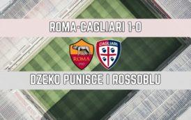 CALCIO, Roma-Cagliari 1-0: rossoblu bravi a reggere per quasi un'ora. Ancora un'espulsione nel finale