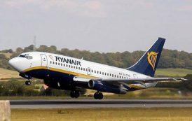 TRASPORTI, Ryanair lancia nuove rotte invernali da Cagliari per Portogallo, Spagna, Germania e Polonia