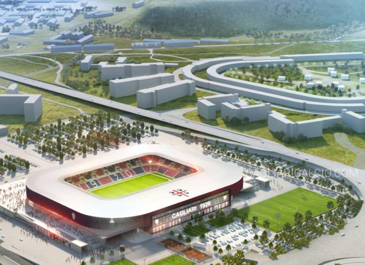 """CALCIO, Presentato il video del progetto del nuovo Stadio Sant'Elia. Signorelli: """"21.000 posti pronti per il 2019"""""""