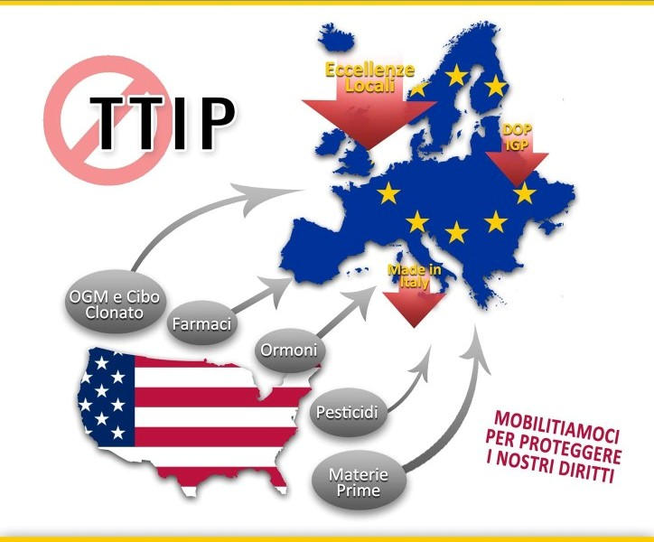 """CAGLIARI, Sabato 19 dibattito su accordo Ttip tra Usa e Ue. Moi (M5s): """"Difendiamo le eccellenze locali"""""""