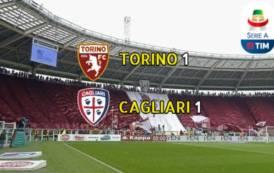 """CALCIO, Pomeriggio """"inglese"""" per il Cagliari: 1-1 in casa del Torino"""