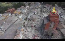 Il VIDEO dei Vigili del Fuoco dopo il terremoto: Amatrice vista dall'alto