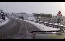 Le IMMAGINI della nevicata di ieri a Burcei