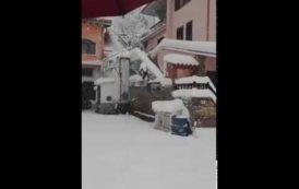 Le IMMAGINI della nevicata di ieri a Belvì